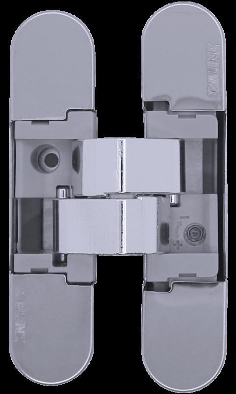 KUBICA K1019 СL петля скрытая универсальная (полированный хром) 52 kg