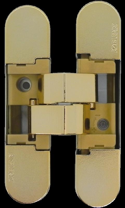 KUBICA K1019 OL петля скрытая универсальная (полированное золото) 52 kg
