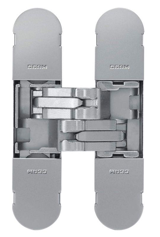 Дверная петля скрытой установки Ceam с 3D регулировкой 1129 COP матовый хром (25-40 кг)