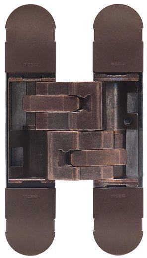 Дверная петля скрытой установки Ceam с 3D регулировкой 1131S BR бронза (80-120кг)