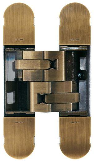 Дверная петля скрытой установки Ceam с 3D регулировкой 1131S BRS матовая бронза (80-120кг)