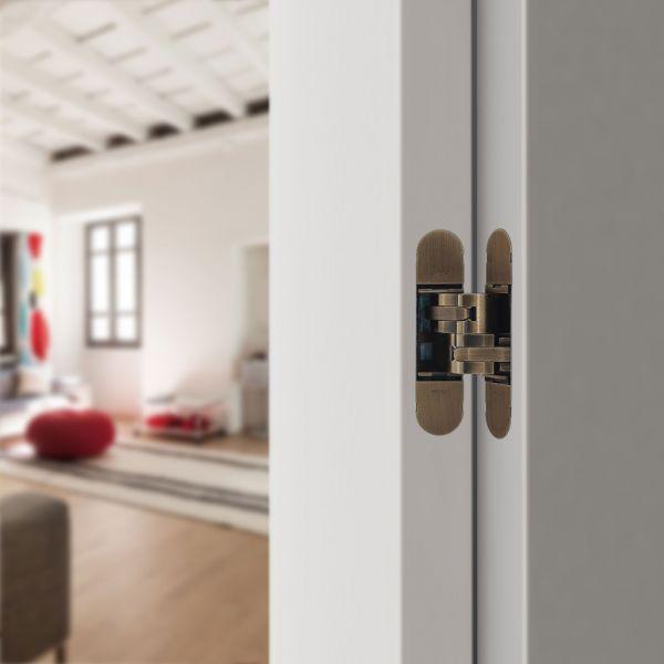 Дверная петля скрытой установки CEAM с 3D регулировкой 1230S белый (50-70кг)