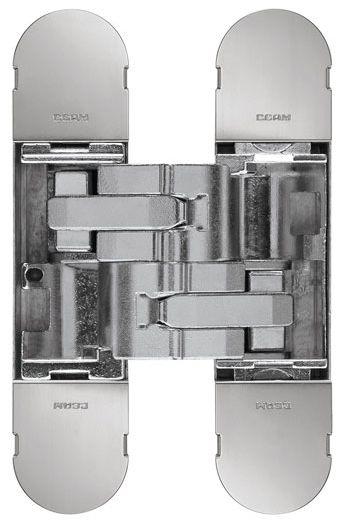 Дверная петля скрытой установки CEAM с 3D регулировкой 1230S NIK блестящий никель (50-70кг)