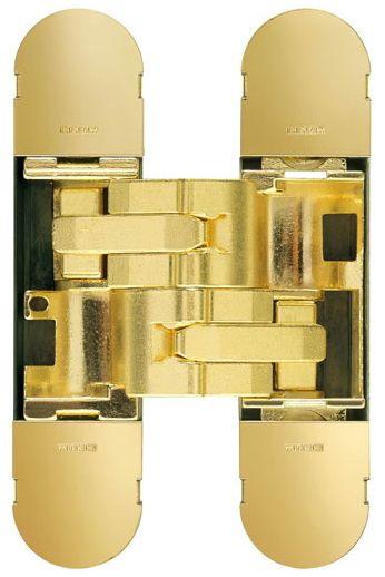 Дверная петля скрытой установки CEAM с 3D регулировкой 1230S OTT блестящее золото (50-70кг)