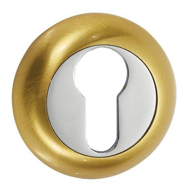 Дверная накладка под цилиндр Vantage ET SB матовое золото