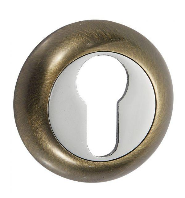 Дверная накладка под цилиндр Vantage ET AB бронза
