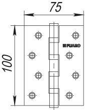 Дверная петля универсальная FUARO 4BB/BL 100x75x2,5 AB бронза (блистер)