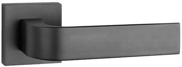Дверная ручка Tupai на квадратной розетке 2732 Q матовый черный (153)