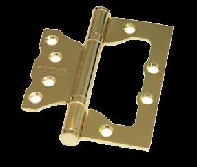 Дверная петля без врезки PALIDORE 100*75*2,0 2ВВ SB TURDUS золото матовое