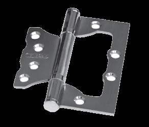 Дверная петля без врезки PALIDORE 100*75*2,5 2ВВ SN ARSENAL хром матовый