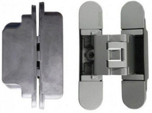 KUBICA K3000 DXSX, NS петля скрытая универсальная для дверей с притвором (матовый никель)