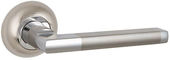 """Дверная ручка PUNTO """"AXIS ZR"""" SN/CP-3 матовый никель/хром"""