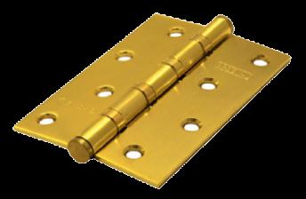 Дверная петля универсальная PALIDORE латунь100*70*2,5 4ВВ SВ PALIDORE золото матовое