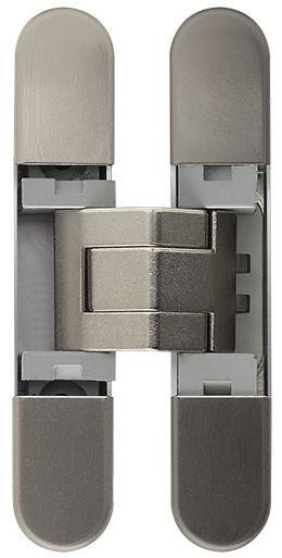 Дверная петля скрытой установки Ceam с 3D регулировкой 929 NIK никель (12-20 кг)
