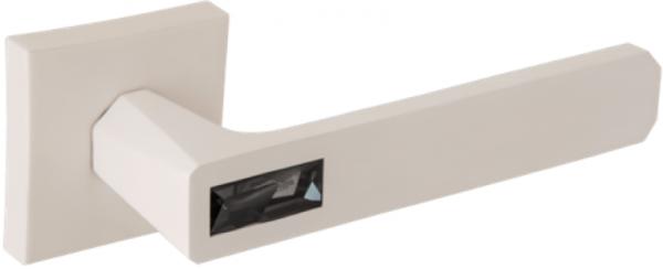Дверная ручка ORO&ORO 933-13 на квадратном основании WHITE/GREY