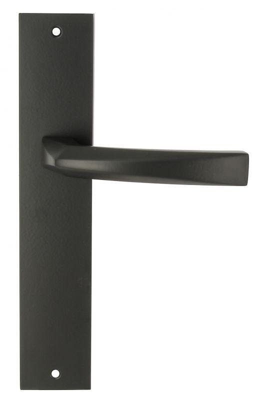 """Дверная ручка Extreza Hi-Tech """"ELIO"""" (Элио) 109 на планке PL11 черный F22"""