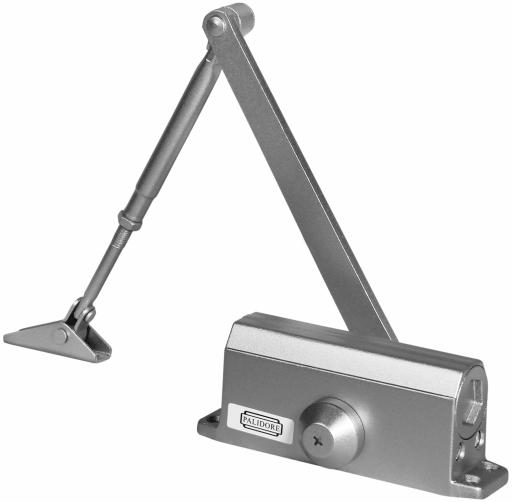 Дверной доводчик PALIDORE 604 silver серебристый
