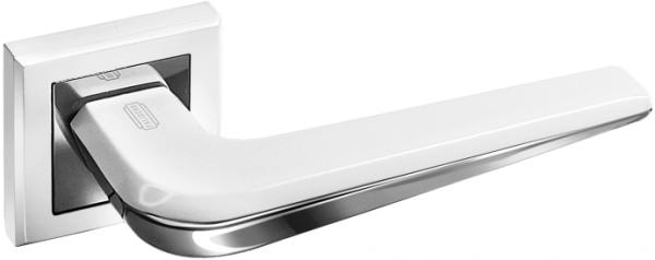 Дверная ручка на квадратной розетке PALIDORE A-250 WPC белый/хром