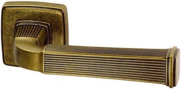 """Дверная ручка SYSTEM """"ASTORIA"""" HA133RO13 на квадратной розетке MVB античная бронза"""