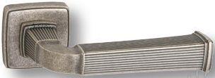 """Дверная ручка SYSTEM """"ASTORIA"""" HA133RO13 на квадратной розетке OSM старое серебро"""