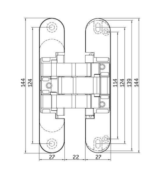 Скрытые петли MORELLI с 3-D регулировкой HH-16 AB античная бронза