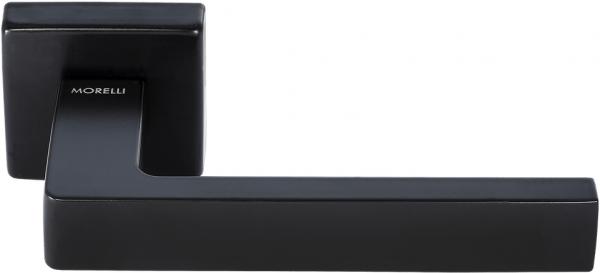 Дверная ручка на квадратном основании MORELLI Luxury HORIZONT NERO черный