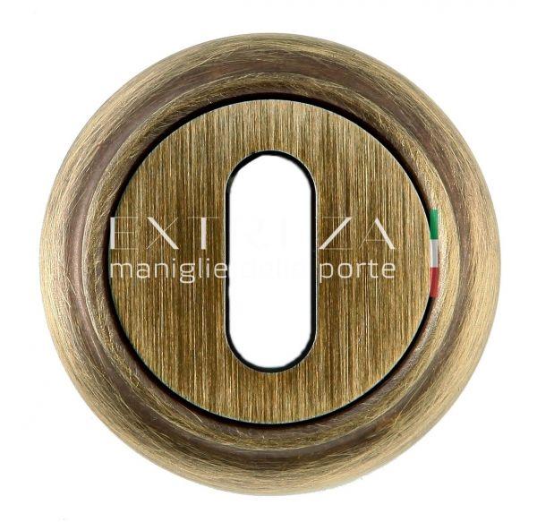 Накладка дверная под ключ буратино Extreza KEY R01 матовая бронза F03