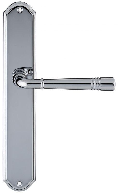 """Дверная ручка Extreza """"GUSTO"""" 334 на планке PL01 полированный хром F04"""