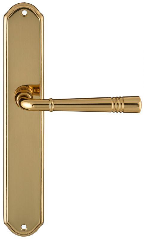 """Дверная ручка Extreza """"GUSTO"""" 334 на планке PL01 полированная латунь F01"""
