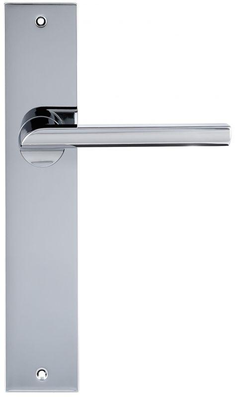 """Дверная ручка Extreza Hi-Tech """"SANTA"""" 128 на планке PL11 полированный хром F04"""