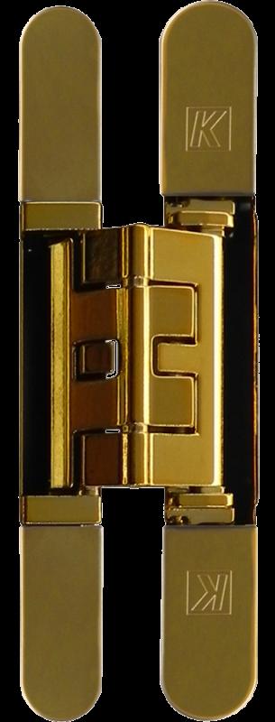 KUBICA K2460 OL петля скрытая универсальная (полированное золото) 60 kg