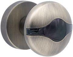 "Дверная ручка-кноб PIRUETTE ""TWINS"" L147 ANTIQUE BRONZE античная бронза"