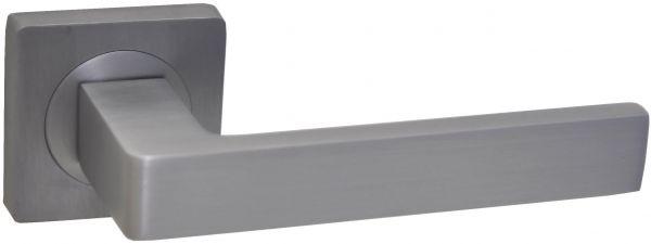 Дверная ручка на квадратной розетке LD 252 DSC матовый хром