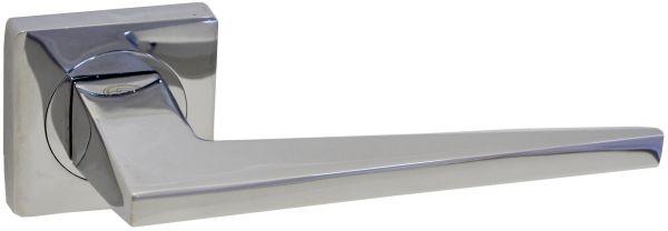 Дверная ручка на квадратной розетке LD 253 CP полированный хром