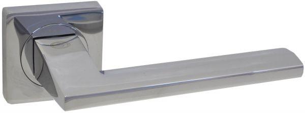 Дверная ручка на квадратной розетке LD 254 CP полированный хром