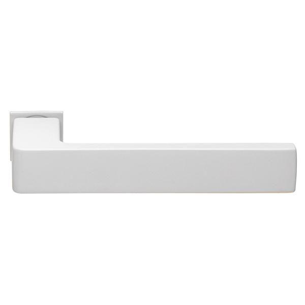 Дверная ручка на квадратном основании MORELLI Luxury HORIZONT-SM BIA белый