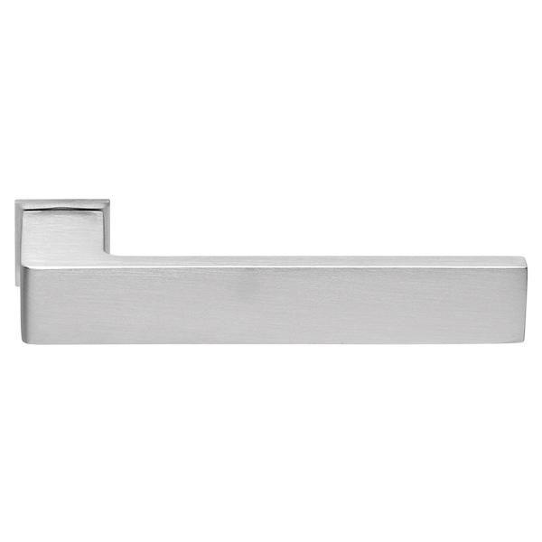 Дверная ручка на квадратном основании MORELLI Luxury HORIZONT-SM CSA матовый хром