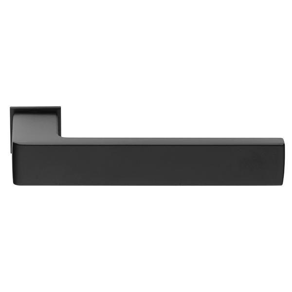 Дверная ручка на квадратном основании MORELLI Luxury HORIZONT-SM NERO черный