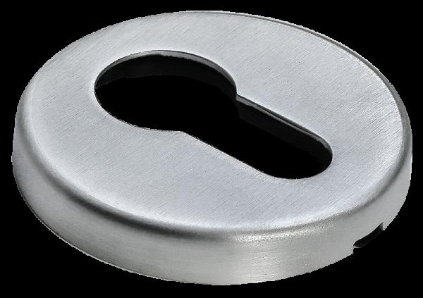 Накладки на цилиндр MORELLI Luxury LUX-KH-R CSA матовый хром