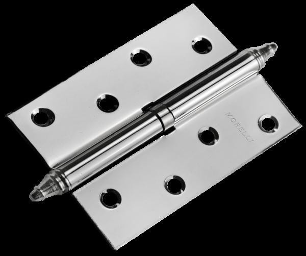 Дверная петля MORELLI с короной стальная MS 100X70X2.5 R правая PC перламутровый хром