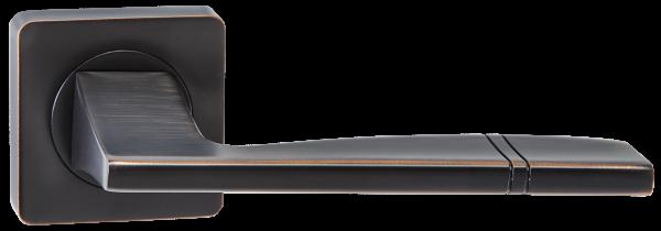 """Дверная ручка RENZ """"Риволи"""" DH 72-02 ABB бронза черная с патиной"""