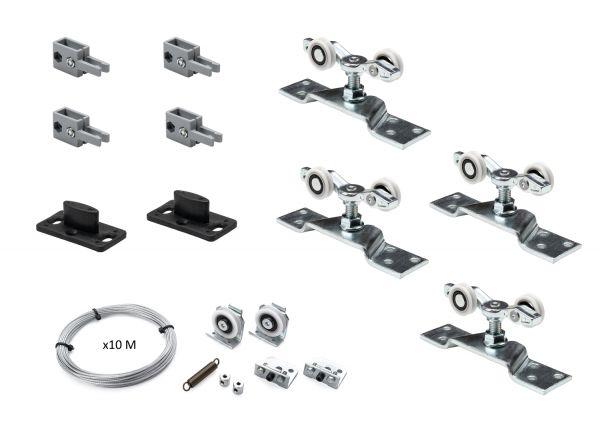 K.Sistem SET-50 Synchro раздвижная система синхронного открывания 2х дверей до 50 кг + профиль 3м