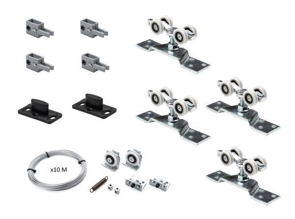 K.Sistem SET-80 Synchro раздвижная система синхронного открывания 2х дверей до 80 кг + профиль 3м