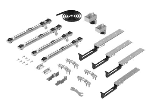SF-SYNCRO ROLLER Комплект фурнитуры SAHECO с 4-мя доводчиками 60-80 кг. для деревянных дверей (мин. ширина двери 915 мм)  (010141)