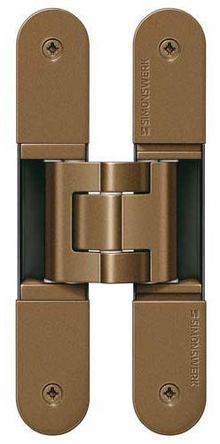 Скрытая петля SIMONSWERK TECTUS TE 340 3D до 80 кг бронза металлик (SW168)