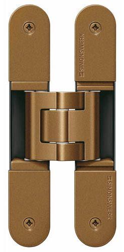 Скрытая петля SIMONSWERK TECTUS TE 340 3D до 80 кг бронза (SW174)
