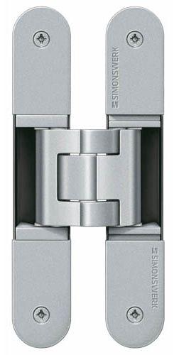 Скрытая петля SIMONSWERK TECTUS TE 340 3D до 80 кг матовый хром (F1/окраш.SW124)