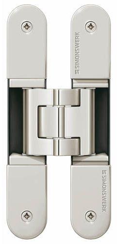 Скрытая петля SIMONSWERK TECTUS TE 340 3D до 80 кг полированный никель (SW038)
