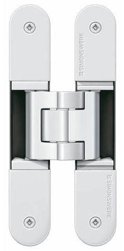 Скрытая петля SIMONSWERK TECTUS TE 340 3D до 80 кг белый (окраш. RAL9016)