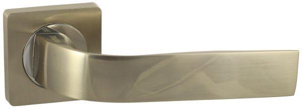 Дверная ручка VANTAGE V01D AL на квадратной розетке SN матовый никель